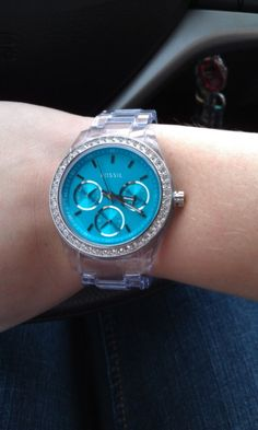 Fossil watch:) clear band, whaaat?!