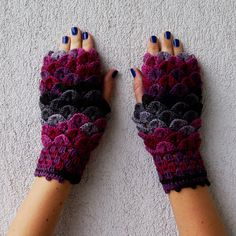 Fingerless Gloves Arm warmers Fingerless mittens Hand knitted mittens Hand Knit…