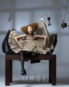 """The Terrier and Lobster: """"Marionette"""" by Bo Lee for Vogue Korea"""