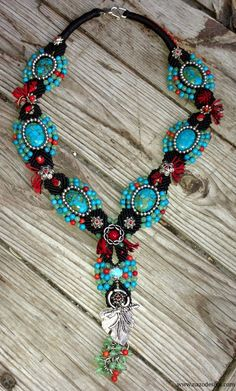 Macrame+Necklace...++Blue+Necklace..+Micro+Macrame+door+NazoDesign,+$83,00