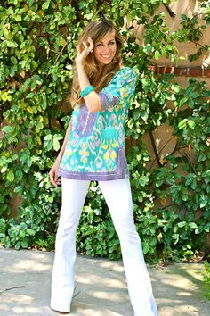 Love the tunic. Great colors!