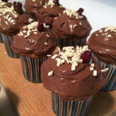 Muffin allo yogurt e mirtilli rossi/