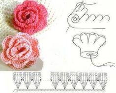 Como hacer una flor en crochet