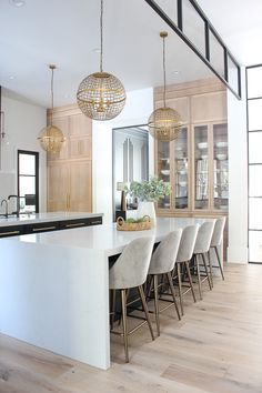 The Forest Modern: Kitchen Q & A The House of Silver Lining Kitchen Interior Design Forest House Kitchen Lining modern Silver Home Decor Kitchen, New Kitchen, Home Kitchens, Kitchen Decorations, Decorating Kitchen, Kitchen Chairs, Decorating Ideas, Decor Ideas, Modern Kitchen Design