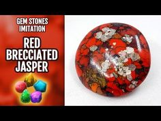 DIY Polymer Clay Red Brecciated Jasper Gemstone and Red Turquoise. Gemstone imitation technique. - YouTube