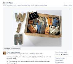 Gewinnt 3 Riesen-Kisten vegane iChoc Schokolade! Nur noch bis heute, dem 11. März 2015, könnt ihr auf der Facebook-Seite...