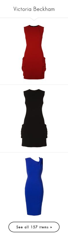 """Victoria Beckham"" by bliznec ❤ liked on Polyvore featuring dresses, pleated dresses, short cocktail dresses, red mini dress, red dress, mini dress, evening dresses, victoria beckham dresses, jersey dress and short evening dresses"