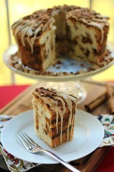 Pumpkin Streusel Swirled Cream Cheese Pound Cake