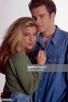 Laura Alice Sisk, Michael Weatherly promotional photo for the Walt Disney Television via Getty Images soap opera 'Loving'. Get premium, high resolution news photos at Getty Images Abc Photo, Michael Weatherly, Tv Couples, Couple Aesthetic, General Hospital, Ncis, Photo Archive, Soaps, Promotion