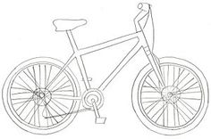 how to draw a bicycle in 8 steps
