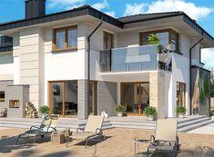 Modern Small House Design, Modern Exterior House Designs, Classic House Design, Contemporary House Plans, Big Beautiful Houses, Beautiful House Plans, Beautiful Home Designs, Architect Design House, Architectural Design House Plans