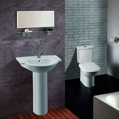 Place a little distance between your toilet and basin to add a different look. Sink, House, Makeover Shows, Toilet, Home, Linton, Home And Garden, Basin, Home Decor