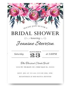 43 best cheap bridal shower invitation images on pinterest cheap watercolor flower bridal shower invitation water color pink flowers elegant filmwisefo