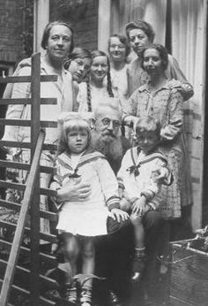 Corrie Ten Boom with her father & sister & some of the children they took in & cared for, Haarlem Holland
