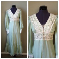 A personal favorite from my Etsy shop https://www.etsy.com/listing/195621404/vintage-70s-gunne-sax-boho-lace-dress