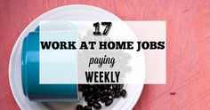 If you are looking for work at home jobs that pay quickly like within a week, then dive into this list. Here are 17 work at home jobs that pay weekly.