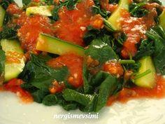 İstifno salatası tarifi   İstifno salatası nasıl yapılır   Girit kabaklı istifno salatası tarifi      Ot çeşitlerinin azaldığı yaz ay...