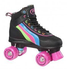 Details about SFR Rio Disco Black/Pink Quad Roller Skates Old school retro skates! Roller Disco, Roller Quad, Disco Roller Skating, Rio Roller, Quad Roller Skates, Roller Derby, Hockey, Skate Party, Outdoor Toys