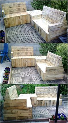 We never forget to show an idea which helps in the seating arrangement outdoor because people look for the ideas for enjoying the weather on the weekends. So, here is an idea to create shipping pallets garden lounge to have a comfortable place to refresh the mind.
