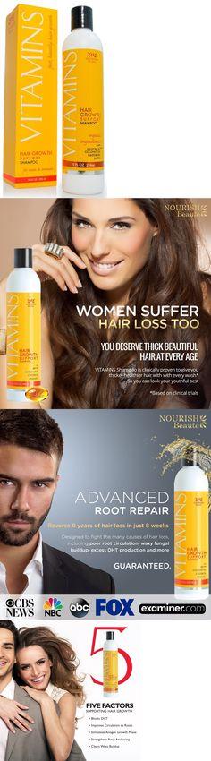 Hair Loss Treatments: Vitamins Hair Loss Shampoo W Natural Growth Factors Argan Oil Dht Blocker Biotin -> BUY IT NOW ONLY: $34.47 on eBay!
