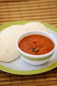 Onion Tomato Red Chutney Recipe - Red Chutney for Idli Dosa - Easy Chutney Recipes | Indian Cuisine
