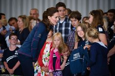 Team Cambridge: Sisters Ella Morgan, 13, and Millie Morgan, 11, and their mother Jo Grindl...