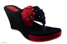 Others Black Women Wedges Material: Velvet Sole Material: Rubber Fastening & Back Detail: Open Back Pattern: Solid Multipack: 1 Sizes:  IND-7 (Foot Length Size: 24.5 cm Foot Width Size: 10.9 cm)  Country of Origin: India Sizes Available: IND-8, IND-3, IND-4, IND-5, IND-6, IND-7   Catalog Rating: ★4.2 (1785)  Catalog Name: Relaxed Trendy Women Heels & Sandals CatalogID_1212711 C75-SC1061 Code: 405-7519070-999