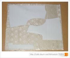 여자 배자 패턴 및  바느질 순서