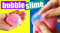 How To Make Bubble Slime without Borax Easy Slime DIY by Bum Bum Surpris...