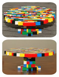 Lego Cake Stand - what a brilliant idea for a Lego party. I still really want to do a Lego party I just need to convince boychild he wants one!
