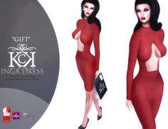 SL Maitreya Inga Inga dress, free group gift. This gift comes as a HUD applier specifically for Maitreya mesh bodies (plus omega appliers). Group..