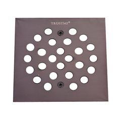 TRUSTMI Square 4 1/4 Inch Screw In Shower Floor Drain Grate