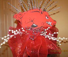Arkansas Razorback Christmas Tree Topper by GodsLovingGrace, $30.00