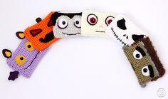Six Scary Buddy Wallets by Ana Rosa Crochet Pattern
