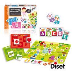 Ayuda a los niños a aprender los temas relacionados con el curso escolar: colores, números, letras, formas... desarrolla la capacidad de concentración y de relacionar.