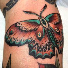 Moth tattoo by @clintonleetattoos at @inkanddaggertattoo in Atlanta GA #clintonleetattoos #clintonlee #inkanddaggertattoo #inkanddagger #atlanta #roswell #georgia #mothtattoo #tattoo #tattoos #tattoosnob
