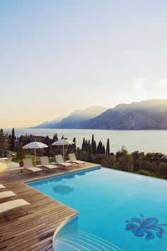 The infinity pool at Hotel Bellevue San Lorenzo is the perfect place to take in views from high above the largest lake in Italy. Click through for even more of some of the world's most amazing indoor and outdoor hotel pools.