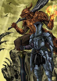 Dark Souls fan art by VaissLogus