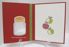 Perfectly preserved apples inside  www.barbstamps.com