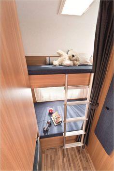 Familienurlaub im Caravan - mit der kindergerechten Stockbettlösung wird der zum reinsten Vergnügen (hier Style 490 K)! #Caravan #mobilehome #Münsterland #LMC