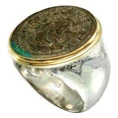 Steven Battelle Ancient Roman Coin Ring Featuring Maximian