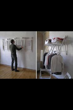 DIY Storage Idea!! Great for the person without a real laundry room!