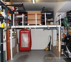En esta ocasión se ha aprovechado al máximo el espacio disponible en el garaje consiguiendo un montón de espacio extra para almacenar.
