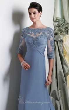Laced Chiffon Gown by Mon Cheri Montage Boutique 113949