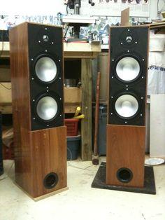 Hardwood floor|standing speakers Best Floor Standing Speakers, Sound Speaker, Hardwood Floors, Flooring, Wood Screws, Fun To Be One, Retro Vintage, Beats, Furniture