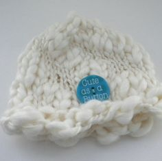 Thick Thin Baby Hat by iaFlowerPower on Etsy, $29.00