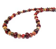 Earthy Boho Necklace  Earth Tone Hippie Beaded by PhreshThreadz, $34.00