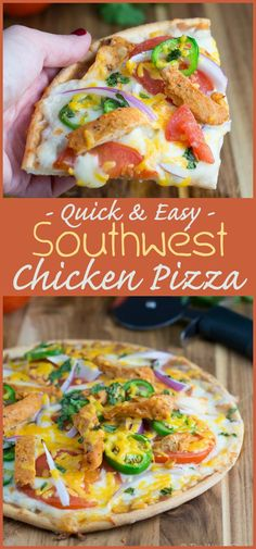 With a few shortcuts, this spicy southwest chicken pizza is quick and easy to make and rivals our local takeout place!