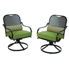 Hampton Bay Fall River Motion Patio Dining Chair with Moss Cushion (2-Pack)-DY11034-DR-2 at The Home Depot Model # DY11034-DR-2 Internet # 203505235 $189.00 / package