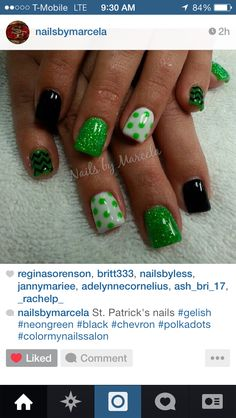 Cute St Patty Day nails!